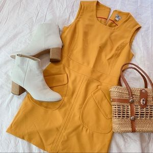 WORTHINGTON | 4 | Yellow Mod Style Dress
